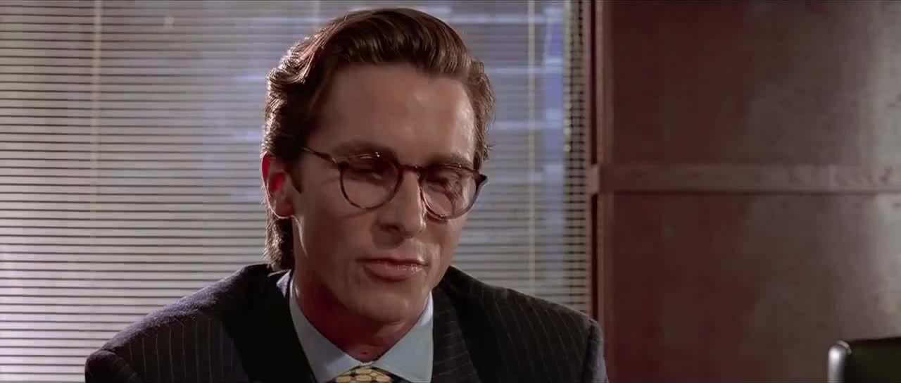 Impressive very nice coub gifs with sound american psycho business card scene reheart Gallery